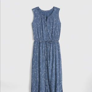 Blue print maxi dress from GAP.